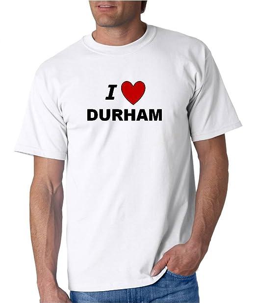 Amazon Com I Love Durham City Series Bigboymusic White T Shirt