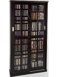 LDE LESLIE DAME Leslie Dame MS 700ES Mission Multimedia DVD/CD Storage  Cabinet With