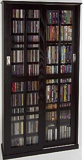 Leslie Dame MS 700ES Mission Multimedia DVD/CD Storage Cabinet With Sliding  Glass Doors