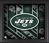 "New York Jets Framed 15"" x 17"" Team Threads Collage - NFL Team Plaques and Collages"