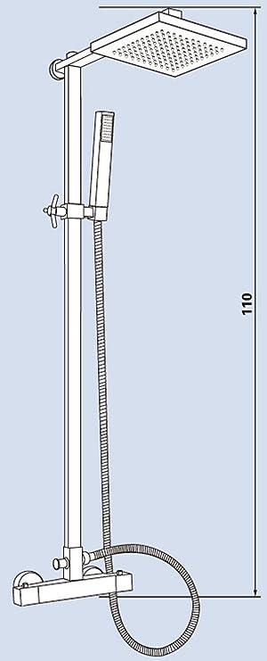 Eisl DX13218CS - Columna de ducha con termostato (acero inoxidable ...