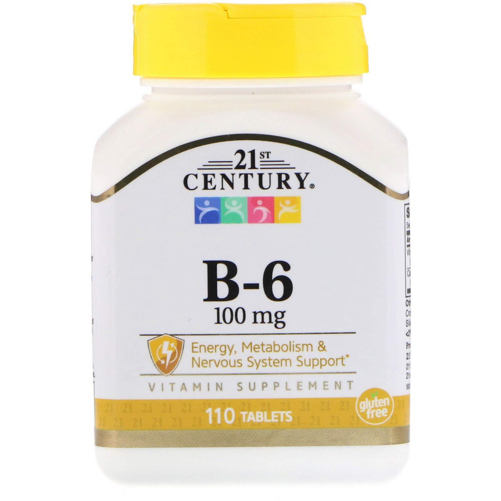 21st Century, B-6, 100 mg, 110 Tablets