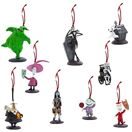 Ornaments Disney Tim Burton's The Nightmare Before Christmas Deluxe Set of  9 Pieces - Amazon.com: Ornaments Disney Tim Burton's The Nightmare Before