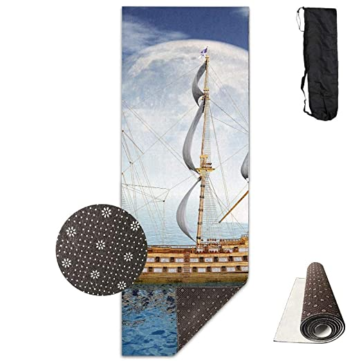 Fitness Exercise Mat, Workout Mat for Yoga, Sea Ships ...