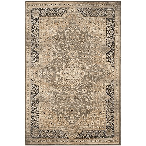 Black Transitional Rug - Safavieh Vintage Collection VTG574D Transitional Oriental Medallion Taupe and Black Distressed Area Rug (4' x 5'7