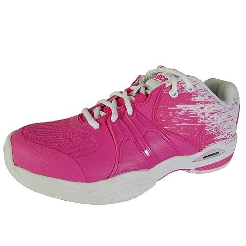 Prince - Zapatillas de Tenis para Mujer Rosa/Blanco: Amazon.es: Deportes y aire libre