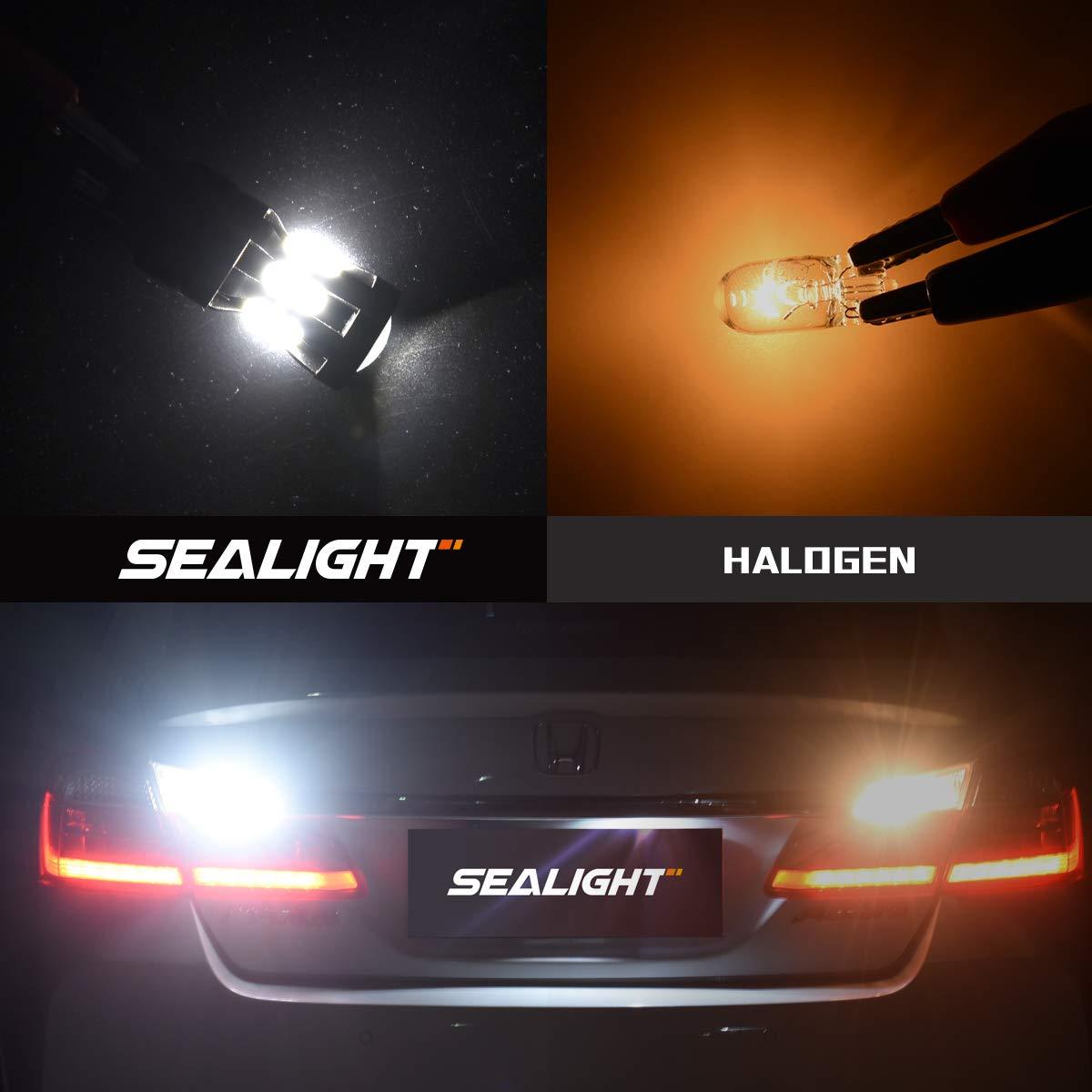 Pack of 2 Turn Signal LED-7440 T20 992 7441 7444 W21W LED Bulbs 7443 Reverse Tail Lights SEALIGHT 7443 LED Brake Lights 7443 LED Bulbs 7443 LED Backup Reverse Lights 6000K Super Bright White