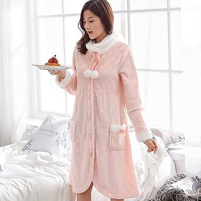 b0902a5ea30d1 冬のゆるい厚いパジャマレディープラスロングスリープローブホーム衣類バスローブ GAODUZI