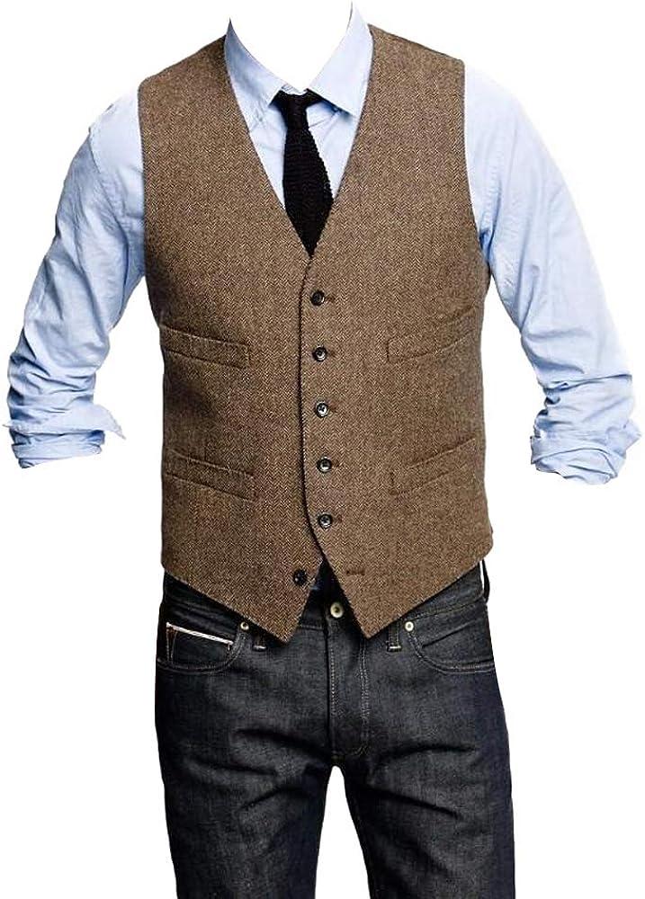 Button Slim Trim Fit Party Dress Vest