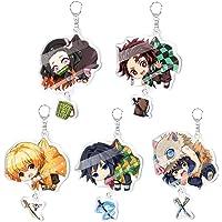 Demon Slayer Keychain Kimetsu no Yaiba keyring Decor Pendant Hanging Ornament Anime Keychain Set…