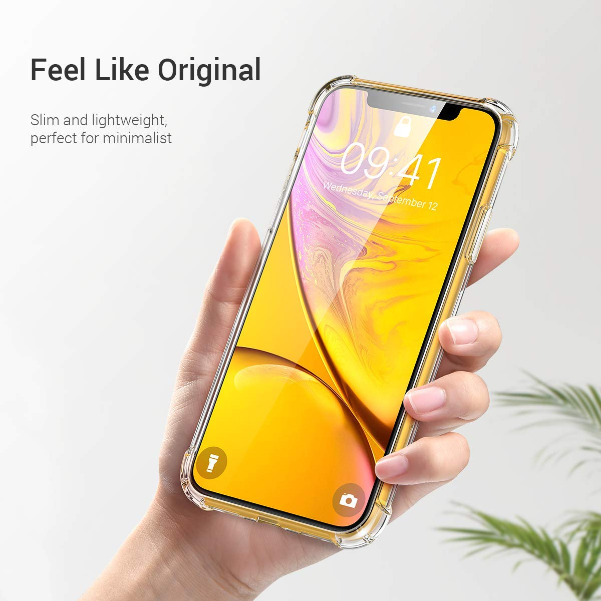 Crystal Clear Shock Absorption with 4 Corners Protection Ainope iPhone XR Case Compatible, Protective Cover with Soft Scratch-Resistant TPU Compatible iPhone XR 6.1 inch 2018