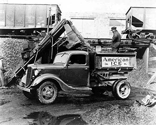 Dump Truck Coal (1936 Ford American Coal Dump Truck Factory Photo)
