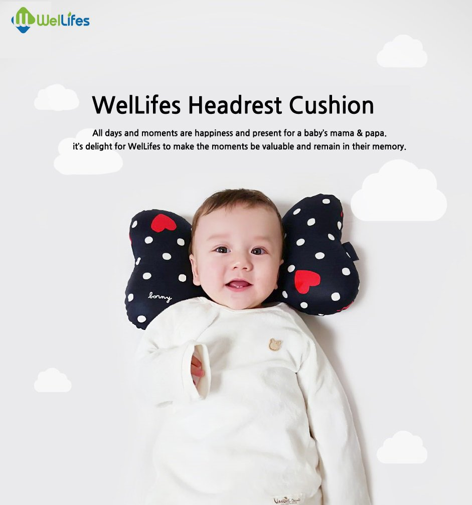 Head /& Neck Support Baby Pillow for Newborn Breathable 3D Air Mesh Organic Cotton Best Headrest for Strollers for Infants /& Toddlers Animal World