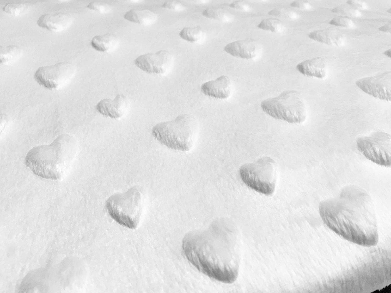 Super Soft Dimple Fleece Fabric Valentines Day Heart Love Romantic Cuddle