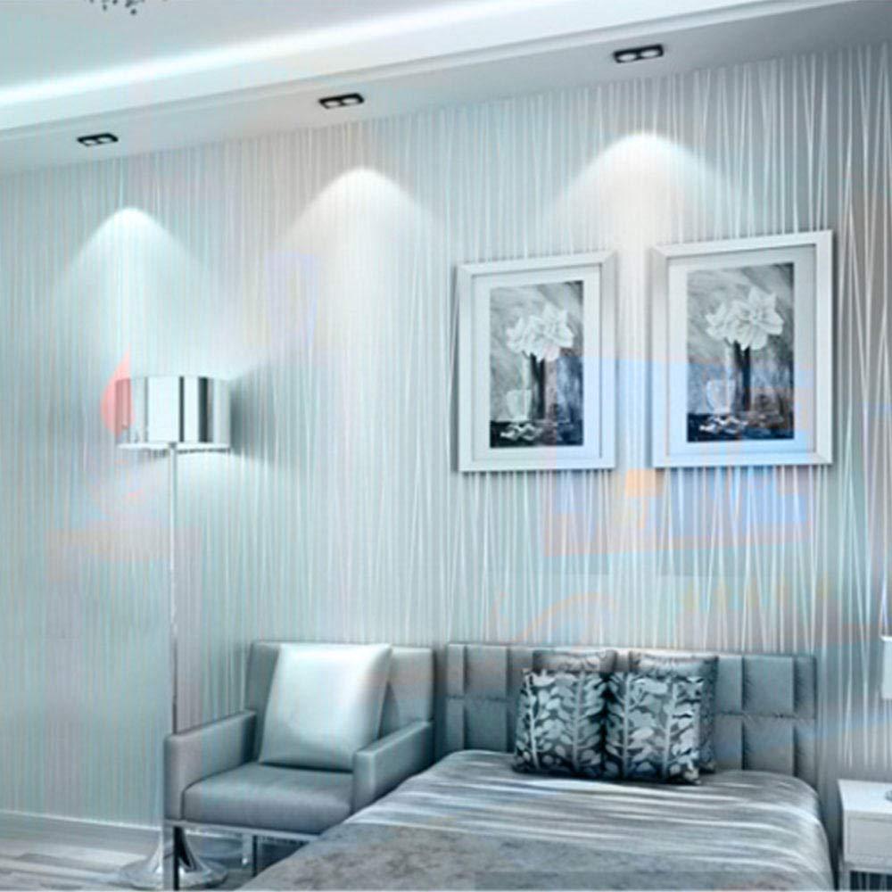 ASDBIZHI Papel Pintado Autoadhesivo A Rayas 3D Impermeable Pvc Color S/ólido Cocina Sala De Estar Estudio Dormitorio Pegatinas Pared De Fondo De Tv Decoraci/ón Oficina 0.53 5M Gris Plateado