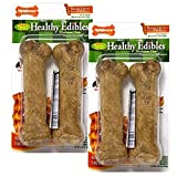 Nylabone Healthy Edibles Wolf Bacon Flavored Dog treat Bones, 4 Pack