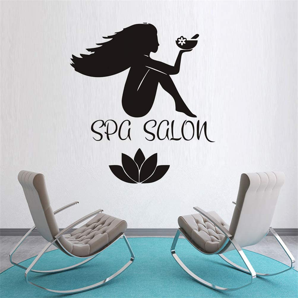Amazon Com Caenua Quotes Vinyl Wall Art Decals Saying Words Removable Lettering Fashion Home Decor Decals Sticker Sex Girl Spa Salon Stickers Women Body And Flower Decal Home Kitchen
