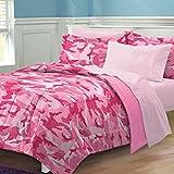 My Room Geo Camo Camouflage Comforter Set, Pink, Twin