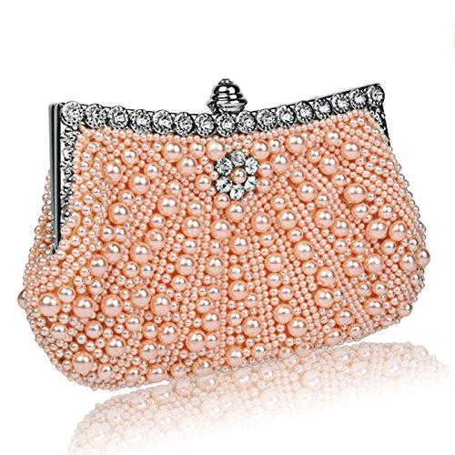 Diamanti Wlq Da Di Bianco Banchetto Nozze Abito Perla Piccolo Champagne Diamante Perline Pochette Sposa Yyy Imitazione fqdgx4PP