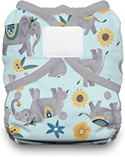 product image for Thirsties Duo Wrap Cloth Diaper Cover, Hook and Loop Closure, Elefantabulous Size Two (18-40 lbs)