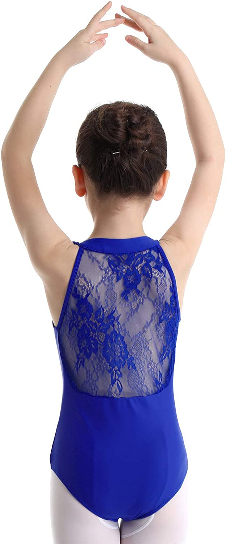 vastwit Big Girls Floral Lace Cutout Back Leotard Ballet Dance Gymnastics Sports Camisole Tank Tops