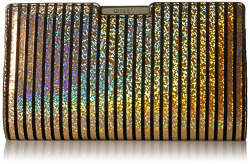 MILLY Metallic Stripe Small Frame Clutch by MILLY