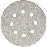 Bosch SR5W040 5-Inch Hook & Loop Sanding Disc, 8-Hole, White, 40 Grit, 5 Pack