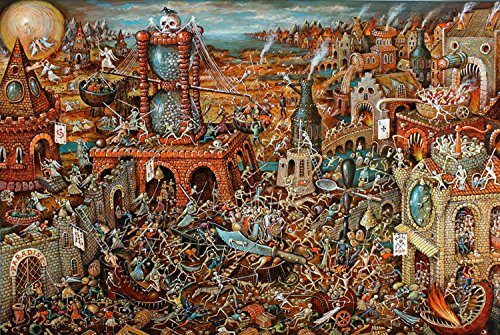 Ingooood- Jigsaw puzzle-2018 New Arrival-Imagination Series -Skeleton Castle-1000 Pieces for Adult