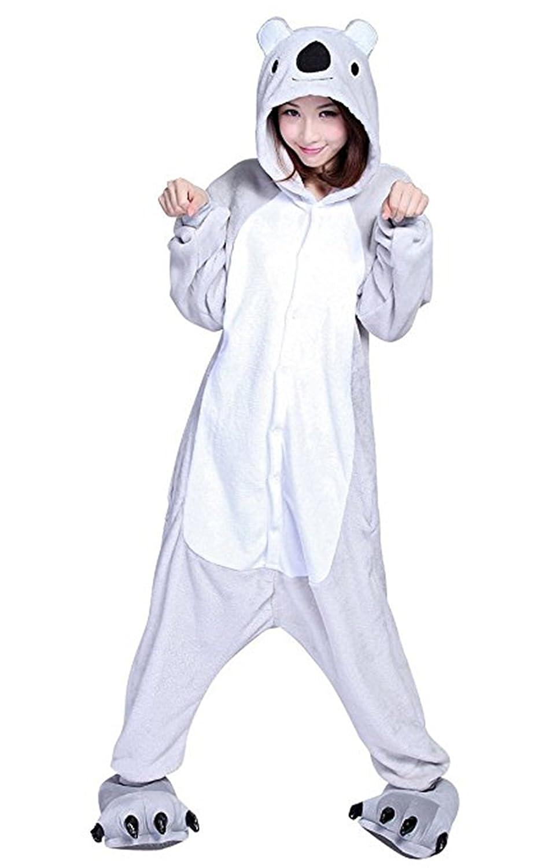 Halloween Cosplay Koala Costumes Animal Onesies Pajamas Onepiece Sleepwear