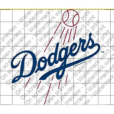 Los Angeles Dodgers Licensed Edible Cake Topper #4651: Kitchen & Dining