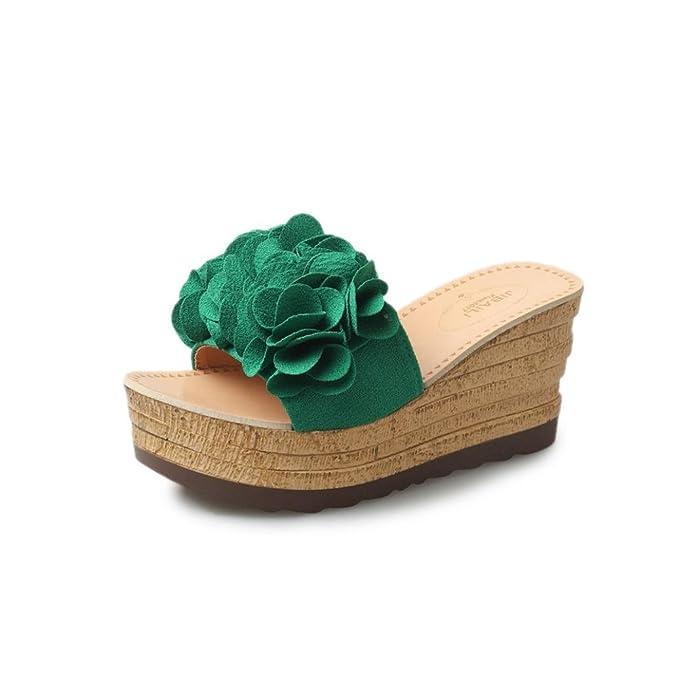 Yesmile💋💝 Sandalias para Mujer Zapatos Casual de Mujer Sandalias de Verano para Fiesta y Boda Zapatos de Plataforma con Floral Sandalias Impermeables ...