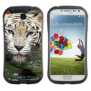 Fuerte Suave TPU GEL Caso Carcasa de Protección Funda para Samsung Galaxy S4 I9500 / Business Style Tiger Water Cute Nature Swimming Animal