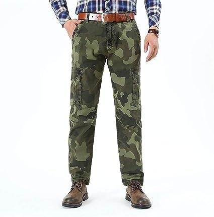 Mens Cargo Military Camo Combat Pants Outdoor Casual Pocket Long Trousers Pants