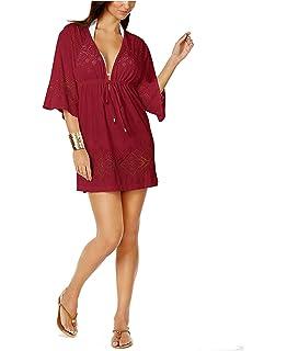 8d2996e477 Dotti Women's Wovens Tie Waist Tunic Hoodie Swim Cover Up at Amazon ...