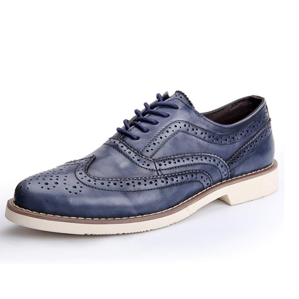 SHANGWU Zapatos De Hombre para Hombres Zapatos De Cuero Tallados ...