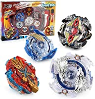 TuKIIE Battling Tops Battle Burst Tops Bey Battling Gyro, 4X High Performance Tops Metal Fusion Attack Set with Launcher...