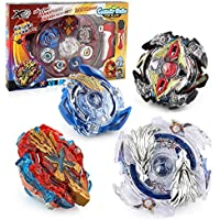 Battling Tops Battle Burst Tops Bey Battling Gyro , 4X High Performance Tops Metal Fusion Attack Set with Launcher and Grip Starter Grip , Stadium Arena
