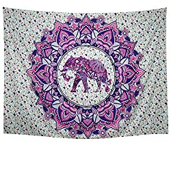 Wall Tapestry Wall Hanging Black and White Tapestry Mandala Tapestry Bohemian Tapestry Psychedelic Tapestry Galaxy Tapestry Hippie Milky Way Tapestry Sky Tapestry for Bedroom Dorm Home Decor