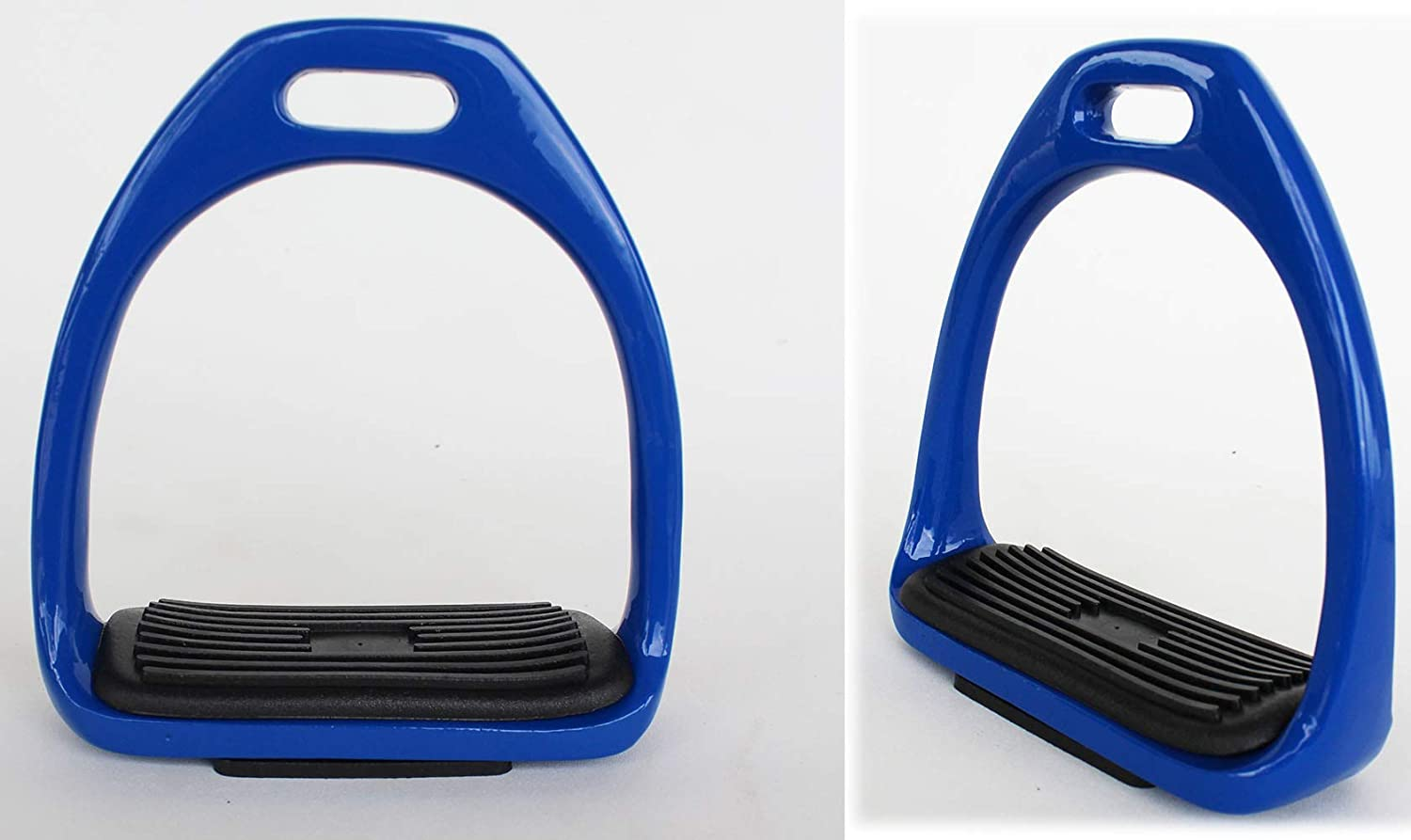 CHALLENGER Horse Saddle English 4-1//2 Wide Lightweight Stainless Steel Fillis Irons Royal Blue Stirrups 51117RB Challenger Horsewear