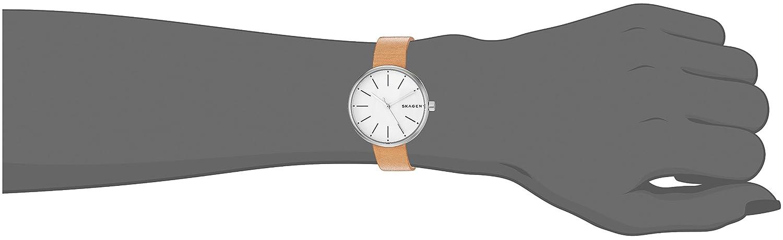 3f71394ea88f2 Amazon.com  Skagen Women s SKW2594 Signatur Brown Leather Watch  Skagen   Watches