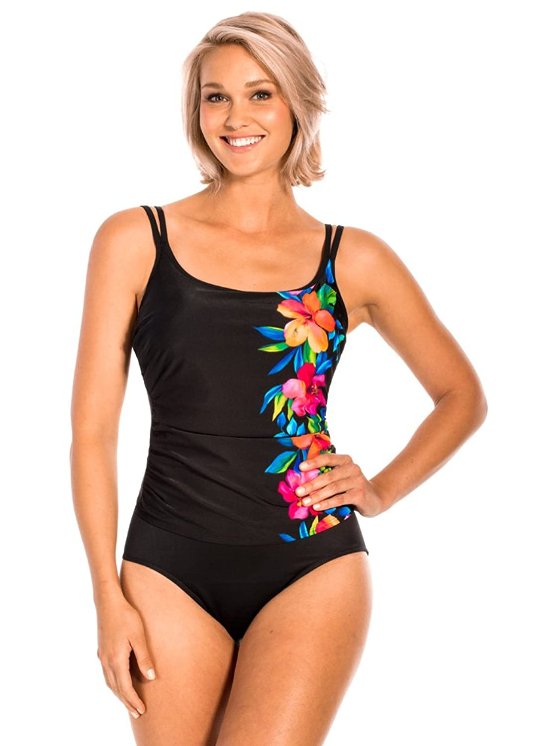 Miraclesuit Aloha Gardens Fauxkini Black