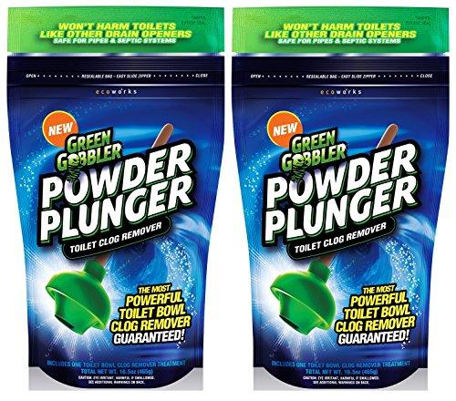 Amazon.com: Green Gobbler GGPPTCR POWDER PLUNGER Toilet Bowl Clog ...