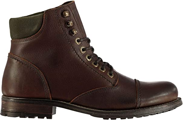 Firetrap Mens Total Boots Rugged Waterproof Padded Ankle Collar Leather Upper