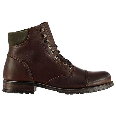 72d079bd471 Amazon.com | Firetrap Vasco Rugged Ankle Boots Mens Brown Shoes ...