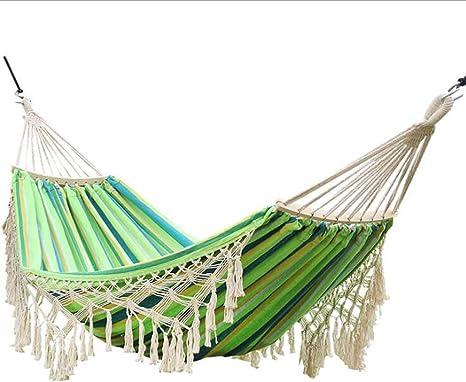 Mijiang Hamaca Portátil, Hamaca De Lona Al Aire Libre, Soporte Superior Portátil De Comodidad Y Durabilidad Hamaca para Jardín Patio Senderismo Camping: Amazon.es: Deportes y aire libre