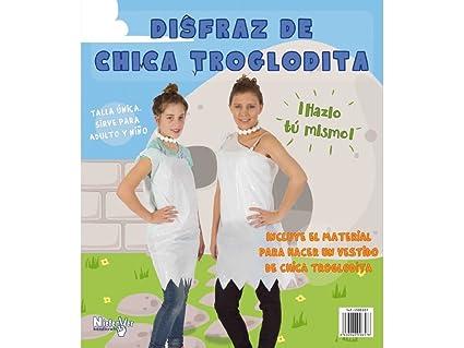 Niefenver 1500104 - Disfraz Bolsa Plástico Troglodita Chica ...