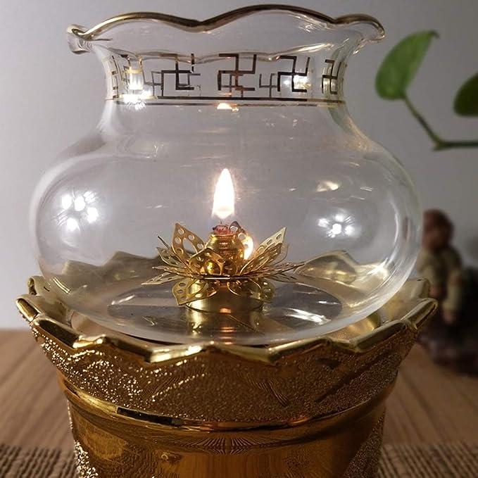 Vosarea Stoppini per Torcia in Fibra di Vetro di Ricambio 5 Pezzi con Supporto per Tubo di Vetro per lampade a Olio 1m