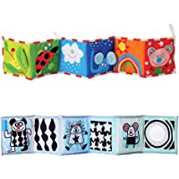 YeahiBaby Baby Double-Sided Around Early Learning Educational Multi- Crib Bumper Baby Animal Cloth Book (Ladybug)