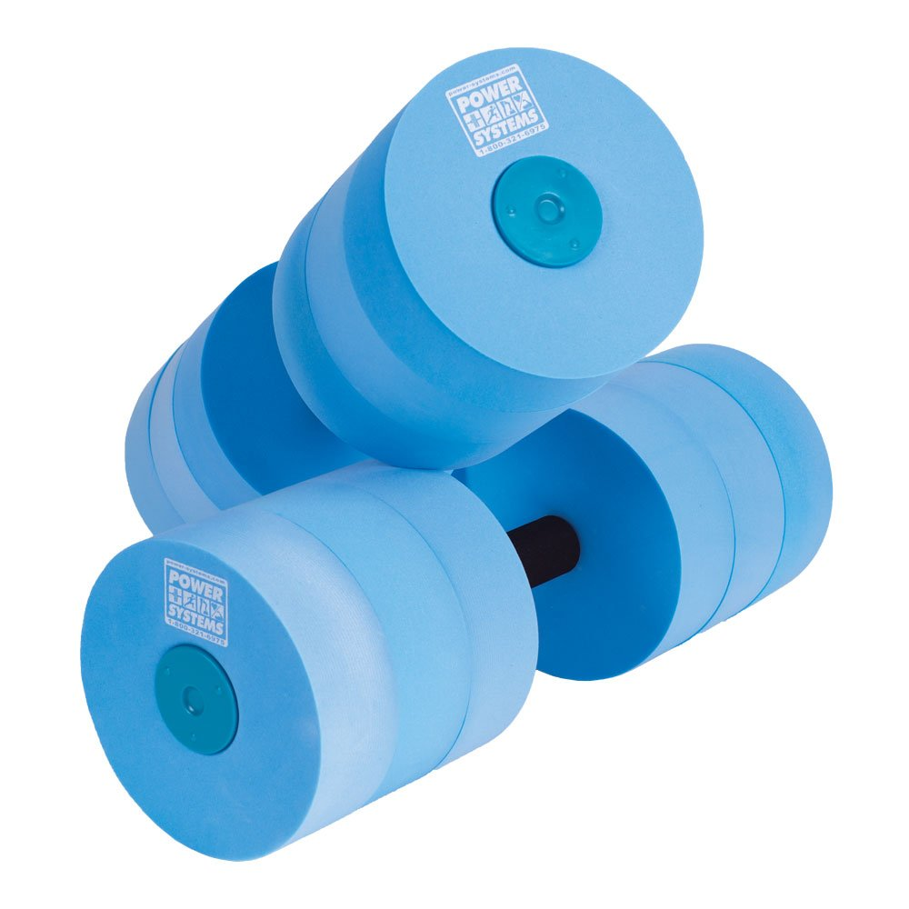 Power Systems Water Dumbbells, Heavy Resistance, Pair, Blue (86570) by Power Systems