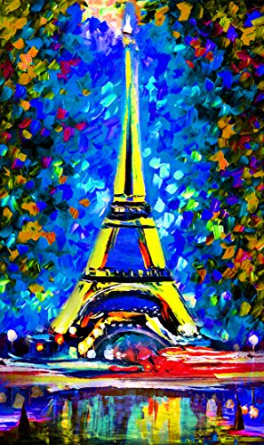 TINMI ARTS 5D DIY Diamond Painting Kits for Adults Landscape Cross Stitch Rhinestone Embroidery Home Wall Decoration (Blue Paris Tower, ()